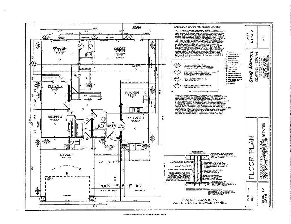 Floor Plan 2 for Penny Crossings in North Albany